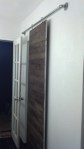 The completed bathroom barn door