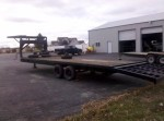 Oh, that's right, the trailer I always wanted... what??  Notice the dual axles.