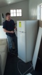 James and I got the fridge in